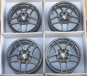 19 Porsche 911 Wheels S2 Rims 997 996 911 Factory Oem Authentic Carrera 991