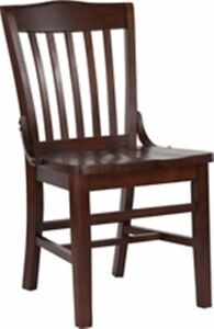 New Heavy Duty Walnut All Solid Wood Restaurant Chairs lot Of 12 Chairs