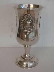 Sterling Silver Kiddush Cup Wine Beaker Goblet Chalice 161 Grams