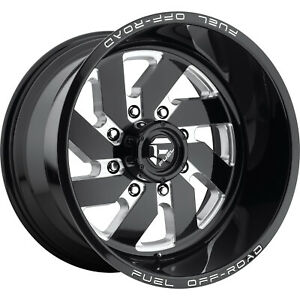 20x12 Black Turbo D582 8x6 5 43 Wheels Open Country A t Ii 33x12 5x20 Tires