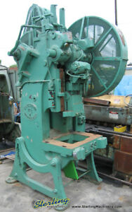 60 Ton X 3 1 2 Used Bliss Obi Punch Press 21 1 2 1410 as Is No Warranty Part