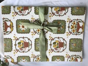 Vintage Linen Press Vintage Fabric Satin Ribbon Hand Made Fresh Linen Keeper