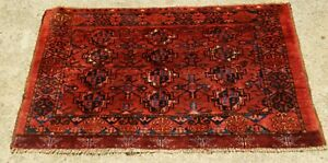 Antique Ersari Turkoman Oriental Rug Chuval Bag Face Size 2 7 X 4 6