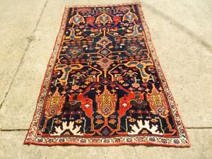 Collectible Antique Bijar Sampler Persian Oriental Rug Size 4 6 X 7