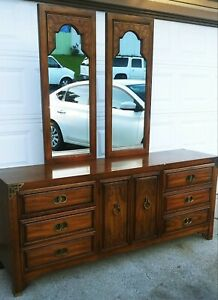 Thomasville Dresser Antique With Double Mirrors Collectibles Furniture
