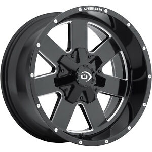 20x10 Black Milled Vision Arc 6x5 5 25 Wheels Open Country Mt 35x12 5x20 Tires