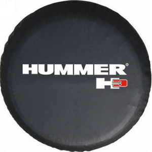 32 33 Spare Wheel Tire Cover For Hummer H3 Logo Denim Vinyl Tyre Covers New