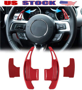 Red Steering Wheel Shift Paddle Dsg Shifter Extension Fits Ford Mustang 2015 19