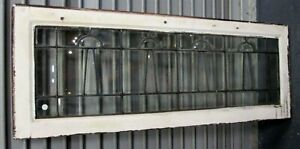 Fine Antique All Beveled Leaded Glass Transom Window Estate 580 Priced Reduced