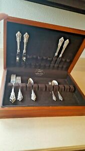 Wallace Grand Baroque Sterling Silver Flatware Service For 4