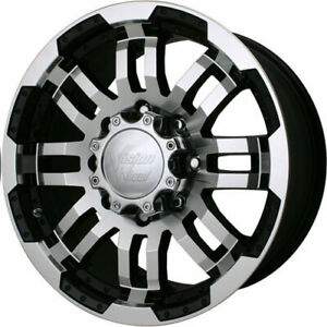 Set 4 16 Vision Warrior 8 Lug Chevy Truck Wheels Rim Black Machined Gmc 2500