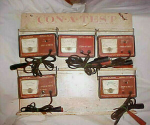 Vintage Con A Test Tune Up Tester Diagnostic Auto Rat Rod Display Sun Meters