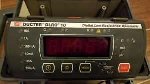 Avo Megger Dlro10 Low Resistance Ohmmeter 10 Amp With 6121 492 7ah Battery Pack