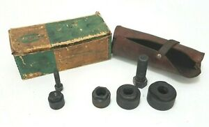 Greenlee 735 Knockout Punch Set With Leather Pouch Enclosure Hole Electrician