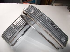 Offenhauser Valve Covers Y block Ford Polished Finned Aluminum