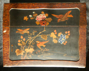 Writing Desk Japanese Lacquer Slope Writing Box Antique Black Lacquer Box