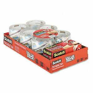 3m Premium Extra strength Clear Packaging Tape Dispenser pack Of 12 Rolls