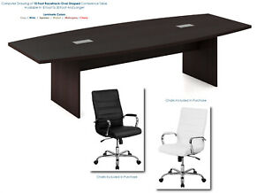 10 Foot Conference Table And 8 High Back Chairs Furniture Set In Many Colors