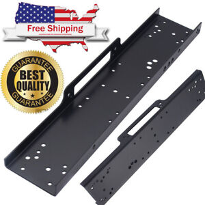 36 Universal Recovery Winch Mounting Plate Bracket Truck Trailer 8000 13000lb