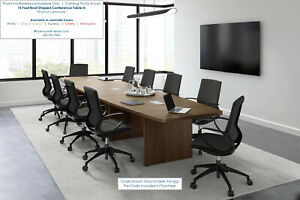 18 Foot Conference Table And 16 High Back Chairs Furniture Set In Many Colors