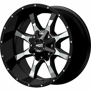 Moto Metal Mo970 18x10 8x170 24mm Black Wheels Rims Mo97081087324n