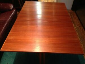 Danish Mid Century Modern Drop Leaf Folding Teak Dining Table Made In Norway
