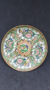 Antique Early 20 C Republic Era Famille Rose Medallion Saucer Plate