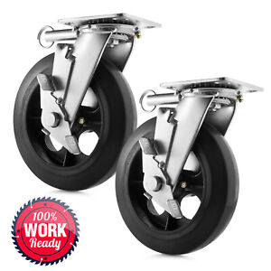 8 X 2 Heavy Duty Swivel Caster Wheels Set Of 2