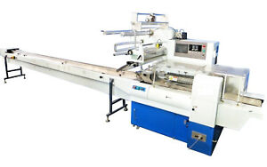 Horizontal Flow Wrapper Packing Wrapping Machine Power Feed Roller Servo Driven