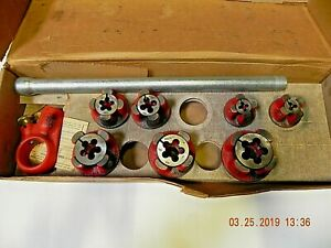 Unused Ridgid Oorb Nc Bolt Die Set Complete With Ratchet And Handle