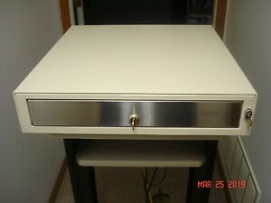 Ep 125kl2 White Epson M s Cash Drawer W Keys Cable Refurbished Condition