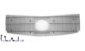 Main Upper Polished Vertical Billet Grille Insert For 02 06 Cadillac Escalade