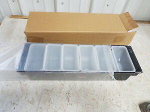 Smirnoff Condiment Tray Holder 6 Bin Compartment Man Cave Bar New Old Stock