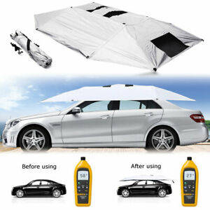 Universal Manual Outdoor Car Tent Umbrella Roof Sunshade Cover Uv Protection Lot