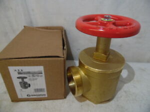 Giacomini A56y009 Fire Hose Angle Valve 2 1 2 Nyfd Brass Male female New Italy