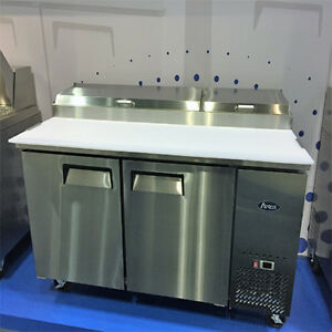 Atosa Mpf8202 67 2 Two Door Refrigerated Pizza Prep Table Free Liftgate Del
