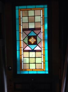 Entry Door With Stained Glass Window
