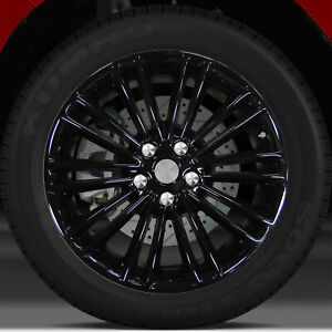 18x8 Factory Wheel Full Face Black For 2013 2016 Ford Fusion