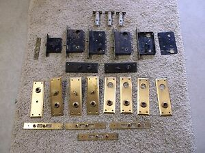 Vintage Antique House Door Plates Sargent Door Locks Selling As A Lot 23 Items