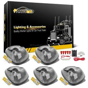 5x Clear 264141cl Cab Roof Lights 10 5730 194 Amber Led wire For 94 98 Dodge Ram