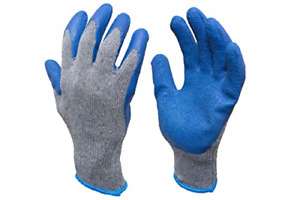 G F 3100l 10 Rubber Latex Coated Work Gloves For Construction Blue Crinkle