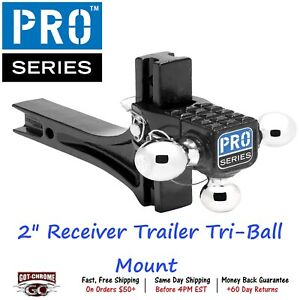 63070 Pro Series 2 Receiver Trailer Hitch Ball Mount 2000 10000 14000lbs Gtw