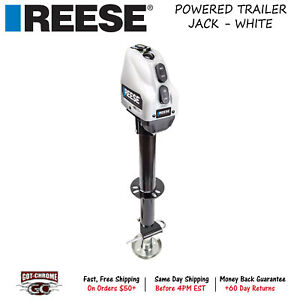 500702 Reese A Frame Powered Drive Trailer Tongue Jack With 17 Travel