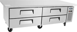 Atosa Mgf 8454 76 4 Drawer Refrigerated Chef Base Restaurant New Free Liftgate