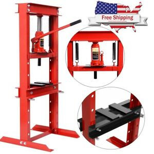 12 Ton H Frame Shop Press Hydraulic Jack Stand Plates Equipment