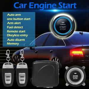 Start Push Button Remote Starter Car Suv Keyless Entry Engine Start Alarm System