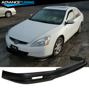 Fits 03 05 Honda Accord 4dr Sedan Mugen Style Front Bumper Lip Pp