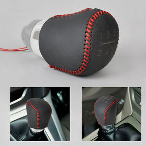 5 speed Genuine Leather Gear Shift Knob Cover Fit For Ford Focus Mk Ii Iii 04 15