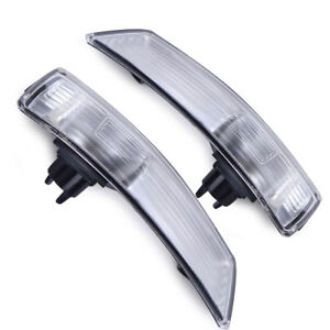 For Ford Focus 08 2016 Pair Wing Mirror Indicator Lens Turn Signal Light Frame