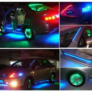 Durable Strip Waterproof Led Under Car Glow Underbody System Neon Lights Kit 12v